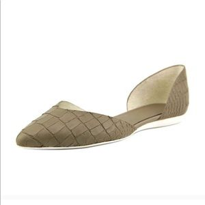 Vince Tara Croc D'Orsay Pointed Flats